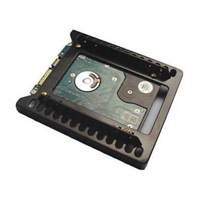 "Black 2.5"" SSD/HDD to 3.5"" HDD Holder Adapter Double Hard Drive Mounting AU"