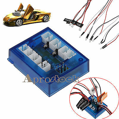 No Solder Realistic Highlight 12 LED Lighting System Kit For RC Car Truck 1/10th