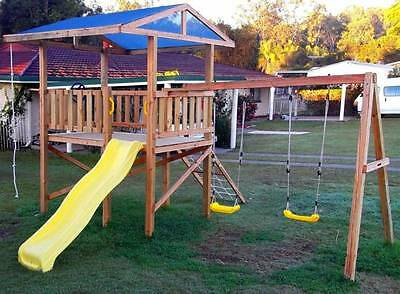 Cubby House, Slide, Fort, Play Ground Equipment, Kids Swing Set Toy