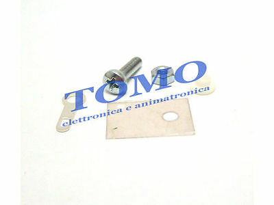 Kit isolamento transistor TO220 dissipatore mica code TO220SET