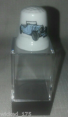 Blue Austin Martin Car Collectable Bone China Thimble - Free Hard Case
