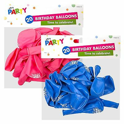 Happy Birthday Balloons Happy Birthday Printed Design - 20 Balloons in a Pack