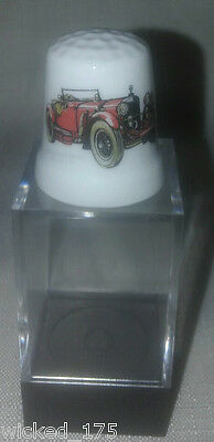 Red Mercedes Benz Collectable Bone China Thimble - Free Hard Case
