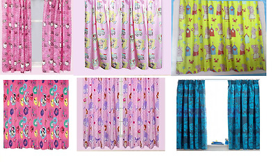 KIDS DISNEY AND CHARACTER CURTAINS In All Sizes -Kids (GIRLS And Boys)