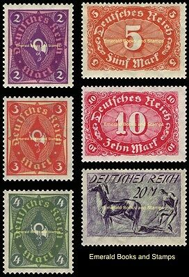 EBS Germany 1922 Posthorn, Numeral & Ploughman Definitives Michel 191-196 MNH**