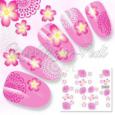 Nail Art Water Decals Stickers Transfers Mandalas Tropical Flowers Beach Y099