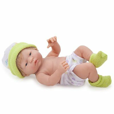 JC Toys Mini La New born in Lime Green  New 9.5 inches Anatomically Correct Girl