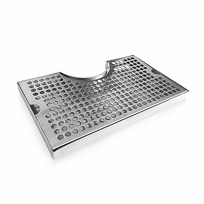 Non-Slip Rubber Padded Stainless Steel Drip Tray with Tower Cutout by Proper