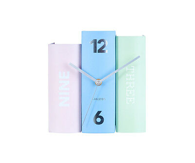 Karlsson Table Book Clock in Pastel Colours