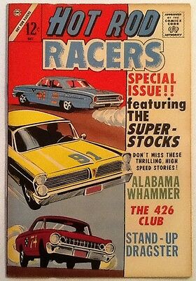 Hot Rod Racers # 3 FN 6.0 Charlton 1965 Hard To Find Rare!