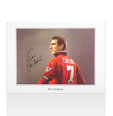 Eric Cantona Signed Manchester United Photo - The King Autograph