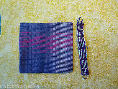 Hand Woven Western Girth with Blanket Purple/grey 1/9 Scale Breyer Peter Stone