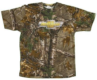 Buck Wear Men's Distressed Chevy Chevrolet Realtree Camoflauge T-Shirt
