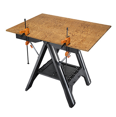 Plastic Work Bench Tool Stands Versatile Table Sawhorse Compact Folding Portable
