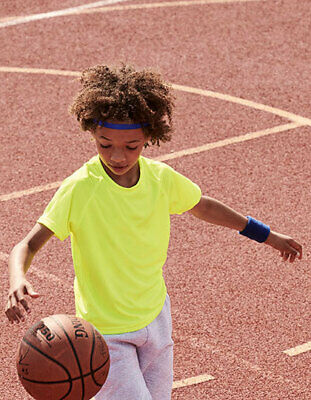 Sportshirt Kinder Kurzarm Funktionsshirt Fitness Shirt 104-164 Fruit of the Loom