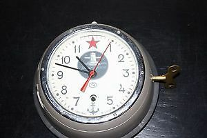 Vintage Russian Navy Submarine Wall Clock-Kauchqupckue w/key