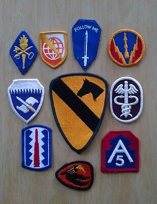 Lot of 10 Assorted Military Unit Insignia Patches #1