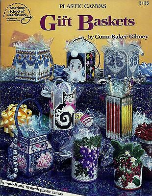 Gift Baskets Plastic Canvas Booklet - 11 Designs - Asn