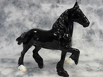 Peter Stone * DAH Glossy Black * Trotting Drafter Pinto Traditional Model Horse