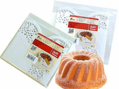 Cake top White round 30 cm, 12 Stück/Pack Food Paper Decoration lace