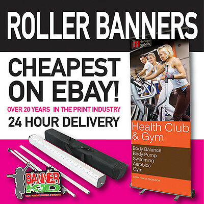 Roller Banner Stand-Pop / Pull / Roll Up 800mm 1500mm plain or printed (2)