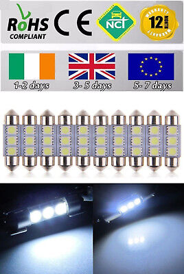 10 PIECES 12V DC 36mm 3 LED 5050 SMD C5W 6418 CANBUS Error Free Dome Light Bulb