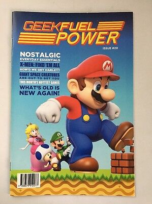 GEEK FUEL POWER Magazine MARIO BROS Cover Issue #20 September 2016 New! 23 pages