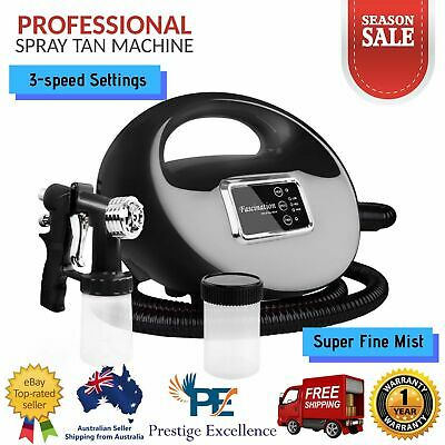 Professional Sunless Spray Tan Machine 700W Tent Silent Motor Superfine Black