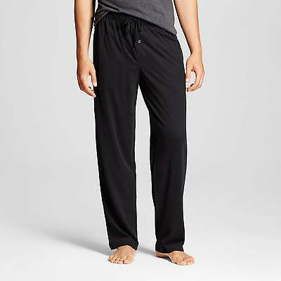 Merona Men's Fleece Pajamas Sleep Pants Black / Ebony Size: S  **NEW**