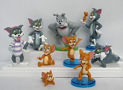 Tom and Jerry 9 Piece Play Set with 9 Tom Jerry and Spike Figures NEW