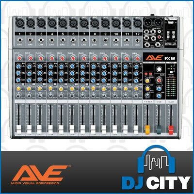 Strike 12 Channel Mixing Console with built in effects and USB playback - Ful...