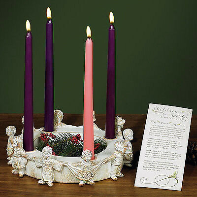 "Advent Wreath-Children Of The World w/Candles & Gift Card (10"")"