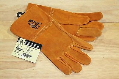"Steiner Quality Cowhide Leather MIG Welding Work Gloves 4-1/2"" Cuff Size Small"