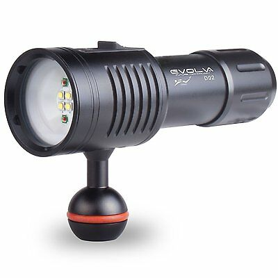 Evolva Future Technology D02 Scuba Diving Underwater 100M Video Camera Light