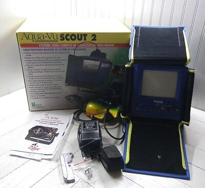 Aqua-Vu Scout 2 Underwater Camera Fish Finder Complete Works Fishing