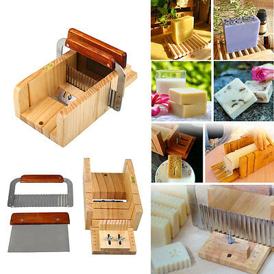 3pcs Professional Adjustable Handmade Wood Soap Mold Cutter Slicer Kits Set