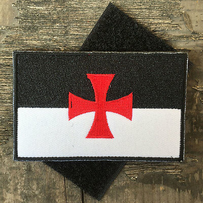 Knights Templar Crusader Cross Army Military Tactical Morale Desert Badge Patch