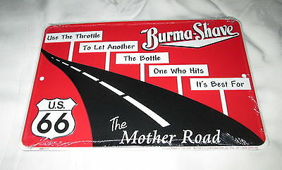 **ROUTE 66 - BURMA SHAVE Metal Sign #7 - NEW**