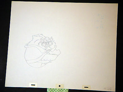Beauty and the Beast - Original Walt Disney Animation Production Drawing (DD)