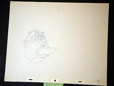 Beauty and the Beast - Original Walt Disney Animation Production Drawing (AA)