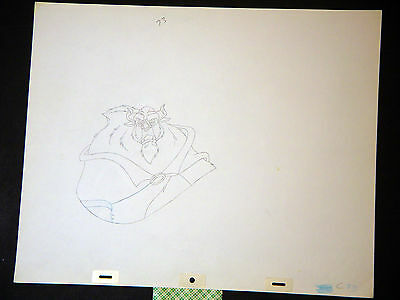 Beauty and the Beast - Original Walt Disney Animation Production Drawing (HH)