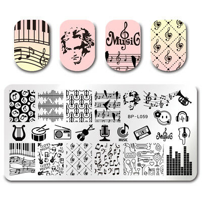 BORN PRETTY Nail Art Stamping Plates Image Templates DIY Music Design BPL-59