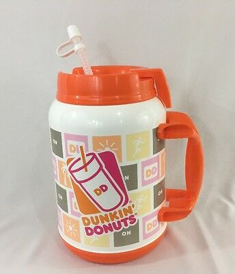 Whirley Drink Works 64 oz DUNKIN DONUTS Hot and Cold Thermos Cup Mug BPA Free