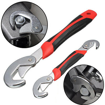 2 pcs Portable Adjustable Quick Snap and Grip Wrench Universal Wrench Set AU