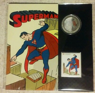 2013 Superman Coin And Stamp Set Canada Still Sealed!