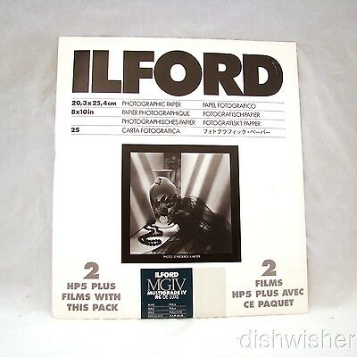 "ILFORD Multigrade IV 44M Pearl Photographic Paper 25 Sheets 8"" x 10"" NEW SEALED"