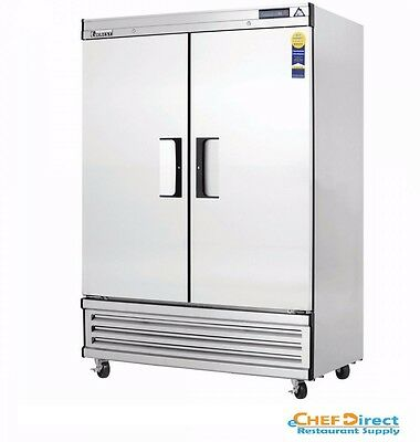"""Everest EBSF2 49-5/8"""" Two Section Solid Door Upright Reach-In Freezer"""