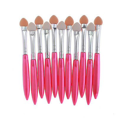 Hot Sell 10Pcs Makeup Brush Eye Shadow Eyeliner Brush Sponge Applicator Tool
