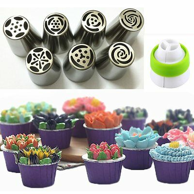Flower Stainless Steel Icing Piping Nozzles Cake Decorating Baking Tool UK HOT
