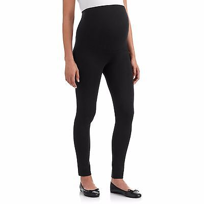 NEW Soft Cotton Black Maternity Leggings Over the bump Stretchy Support TimesTwo